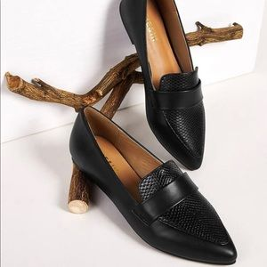 Size 9.5-10 snakeskin loafers new in box